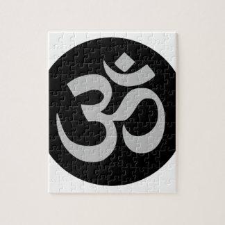Símbolo, plata y negro de Aum Puzzle