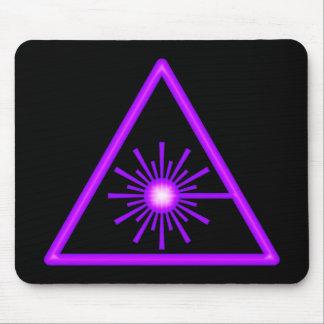 Símbolo púrpura Mousepad del laser Alfombrilla De Ratón
