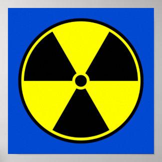 Símbolo radiactivo póster