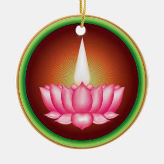 Símbolo religioso de Dharmic del indio de Adorno Redondo De Cerámica