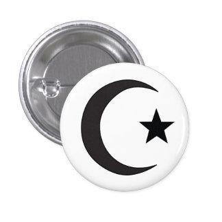 Símbolo religioso del Islam Chapa Redonda De 2,5 Cm