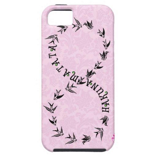 Símbolo rosado y negro del infinito de Hakuna iPhone 5 Coberturas