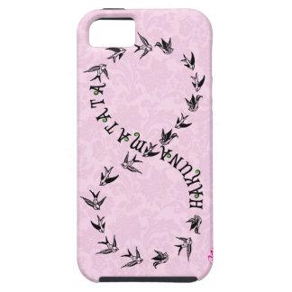Símbolo rosado y negro del infinito de Hakuna Mata iPhone 5 Coberturas