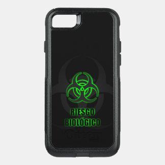 Símbolo Verde Brillante de Riesgo Biológico Funda Commuter De OtterBox Para iPhone 7