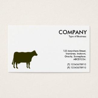 Símbolo verde vergonzoso de la vaca - blanco tarjeta de visita