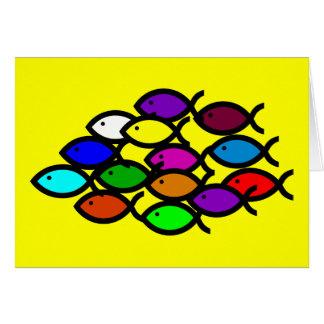 Símbolos cristianos de los pescados - escuela del felicitación