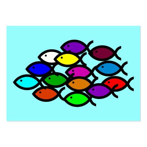 Símbolos cristianos de los pescados - escuela del tarjeta de visita