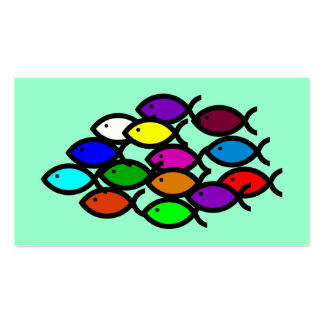 Símbolos cristianos de los pescados - escuela del  tarjetas de visita