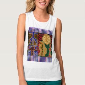 Símbolos curativos principales de REIKI Camiseta De Tirantes Anchos