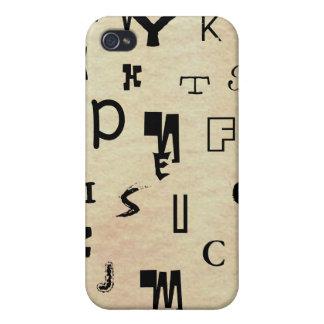 Símbolos de los monogramas el mundo con solamente  iPhone 4/4S carcasa