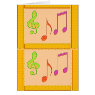 Símbolos de música multicolores de baile tarjeta de felicitación