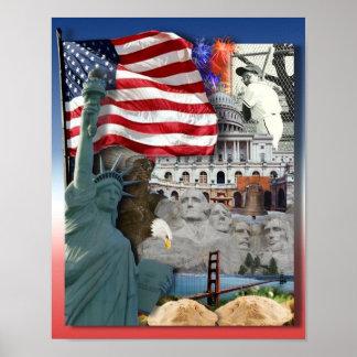 Símbolos del americano de los E.E.U.U. Poster