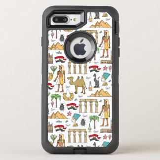 Símbolos del color del modelo de Egipto Funda OtterBox Defender Para iPhone 8 Plus/7 Plus
