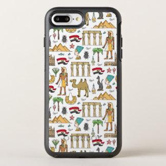 Símbolos del color del modelo de Egipto Funda OtterBox Symmetry Para iPhone 8 Plus/7 Plus