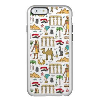Símbolos del color del modelo de Egipto Funda Para iPhone 6 Plus Incipio Feather Shine