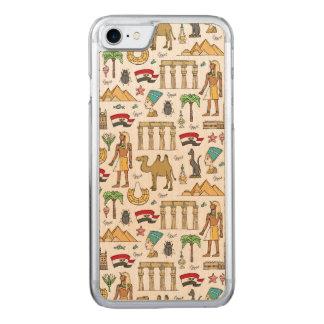 Símbolos del color del modelo de Egipto Funda Para iPhone 8/7 De Carved