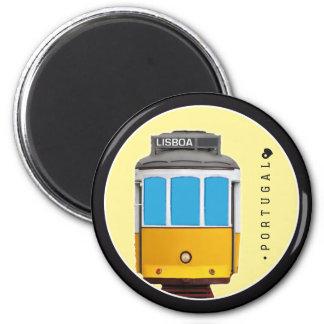 Símbolos del tranvía de Portugal - de Lisboa Imán Redondo 5 Cm