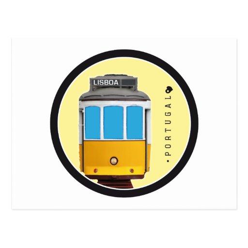 Símbolos del tranvía de Portugal - de Lisboa Tarjetas Postales