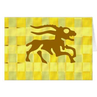 Símbolos del zodiaco en marcos de oro tarjeta de felicitación