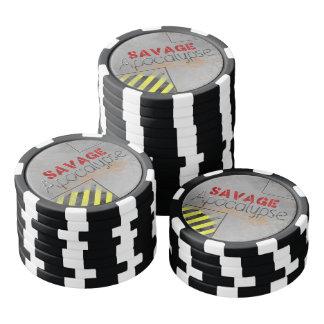 Símbolos salvajes de la apocalipsis juego de fichas de póquer