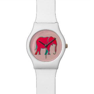 Simple femenino moderno del elefante intrépido reloj de pulsera