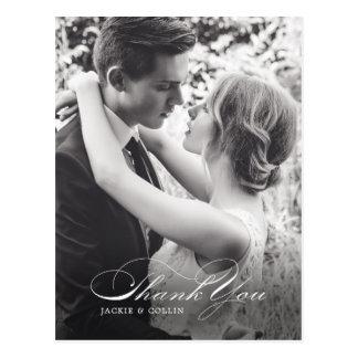 Simple gracias postal del boda