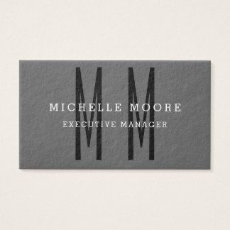 Simple llano minimalista del monograma intrépido tarjeta de negocios