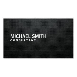 Simple llano negro moderno elegante profesional tarjetas de negocios