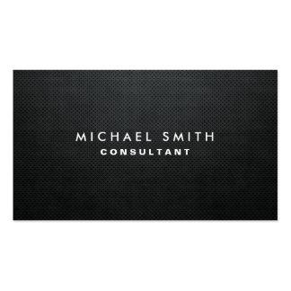 Simple llano negro moderno elegante profesional tarjetas de visita