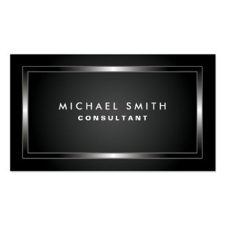 Simple llano negro moderno profesional elegante tarjetas de visita