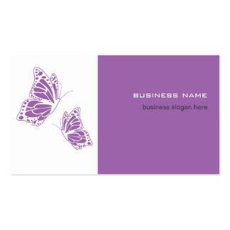 Simple moderno elegante violeta y blanco de la tarjetas de visita