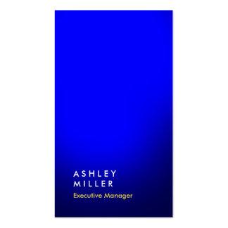 Simple moderno profesional del color azul vertical tarjetas de visita