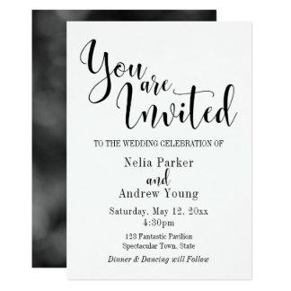 Simple, moderno, usted es boda invitado de la invitación 12,7 x 17,8 cm