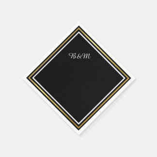 simple negro reception_party del boda elegante servilleta desechable