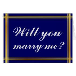 "Simple y elegante ""usted me casará?"" Tarjeta"