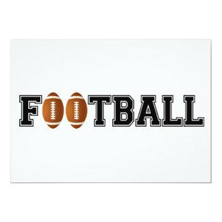 Simplemente fútbol invitación 12,7 x 17,8 cm