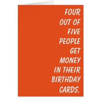 Simplemente una tarjeta de cumpleaños con un poco