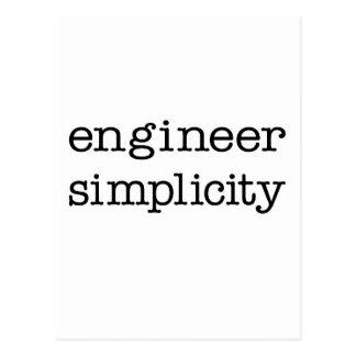 Simplicidad del ingeniero postal