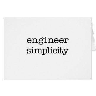 Simplicidad del ingeniero tarjeton