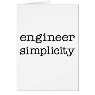 Simplicidad del ingeniero tarjeta de felicitación
