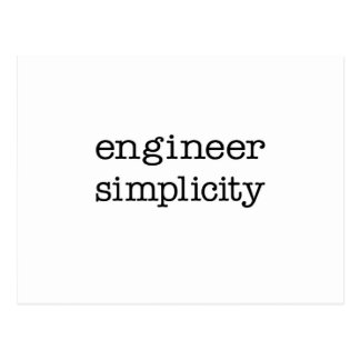Simplicidad del ingeniero tarjeta postal