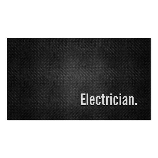 Simplicidad negra fresca del metal del electricist tarjetas de negocios