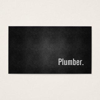 Simplicidad negra fresca del metal del fontanero tarjeta de negocios