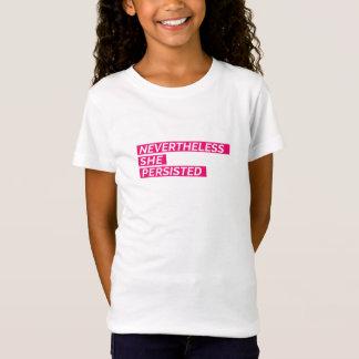Sin embargo, ella persistió camiseta de los chicas camiseta