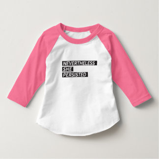 Sin embargo, ella persistió camiseta del niño camiseta