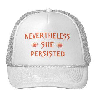Sin embargo ella persistió gorra rojo de los soles