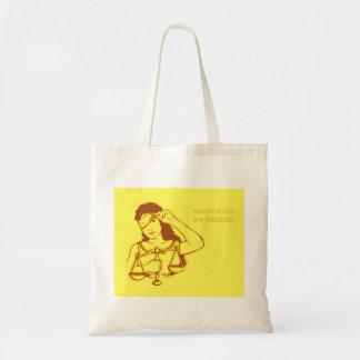 Sin embargo, ella persistió tote (amarillo) bolso de tela