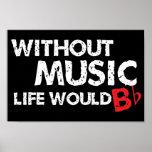 ¡Sin música, la vida b plano! Posters