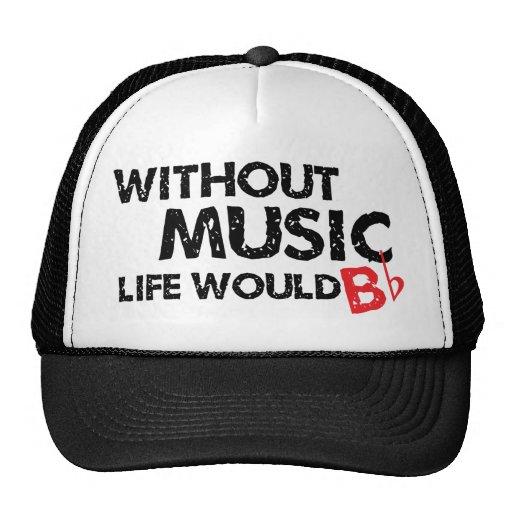 Sin vida de la música B (sea) plano Gorro