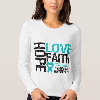 Síndrome de Tourette de la fe del amor de la Camiseta